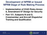 development of nprm or issued nprm stage of rule making process2
