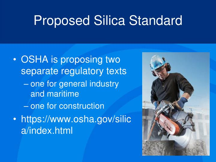 Proposed Silica Standard