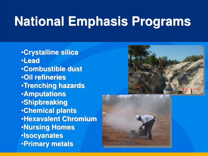 National Emphasis Programs