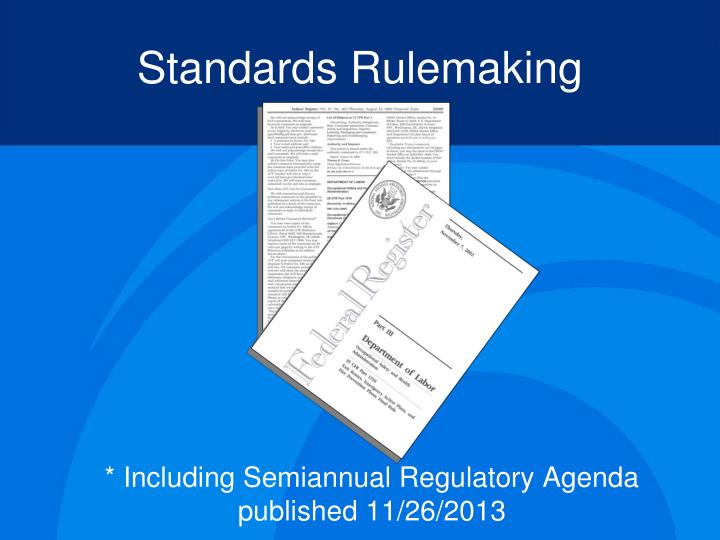 Standards Rulemaking