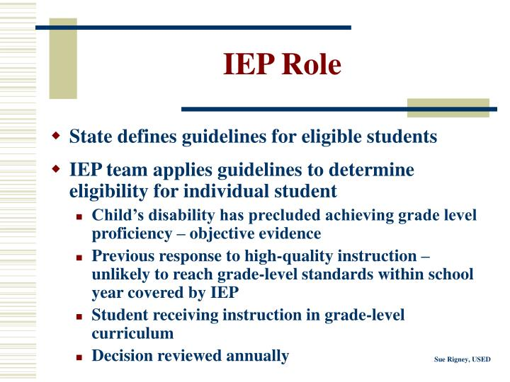 IEP Role