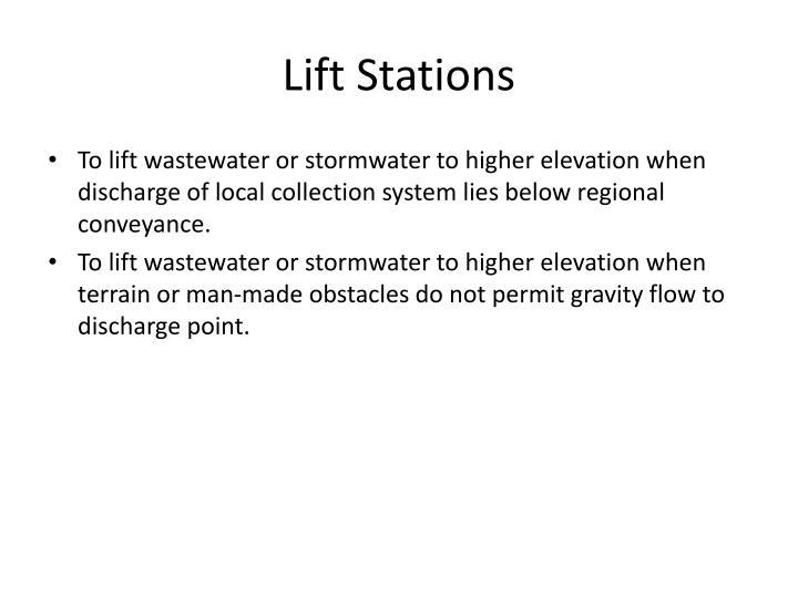 Lift Stations