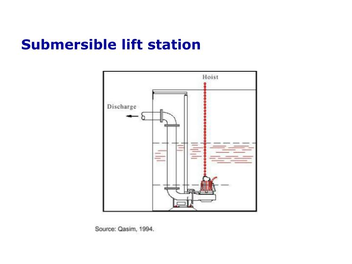 Submersible lift station