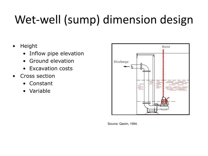 Wet-well (sump) dimension design