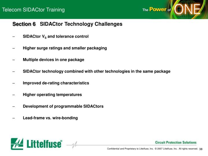 Telecom SIDACtor Training