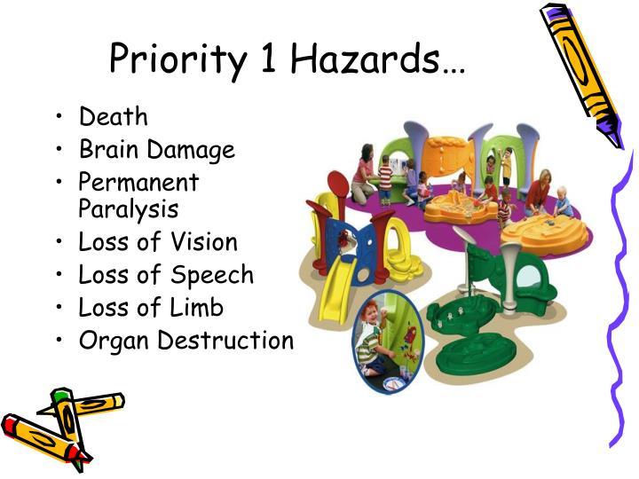 Priority 1 Hazards…