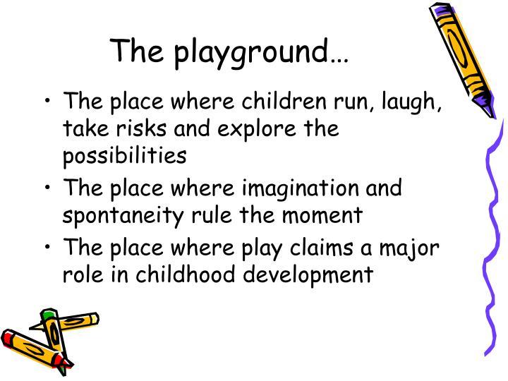 The playground…