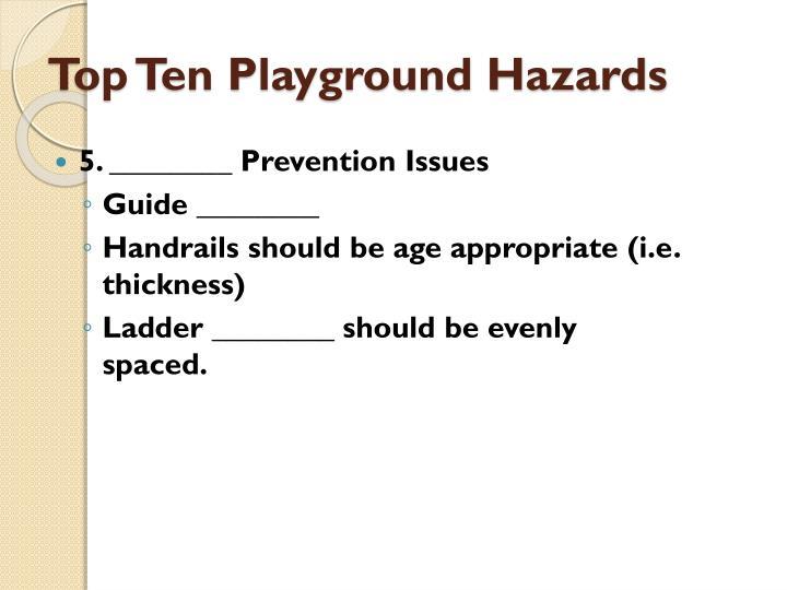 Top Ten Playground Hazards