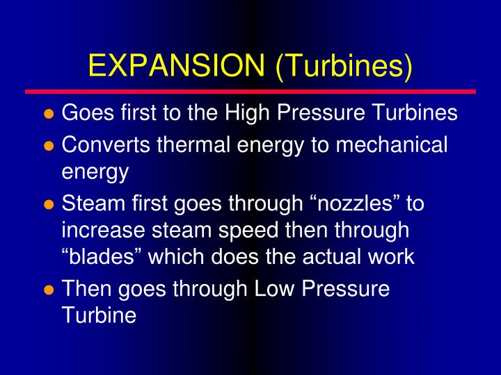 EXPANSION (Turbines)