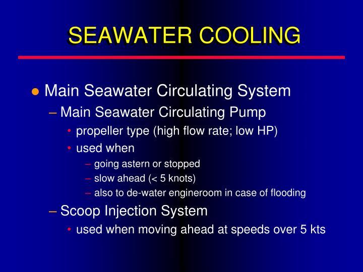 SEAWATER COOLING