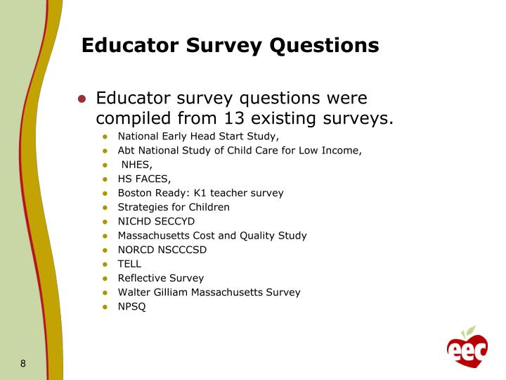Educator Survey Questions