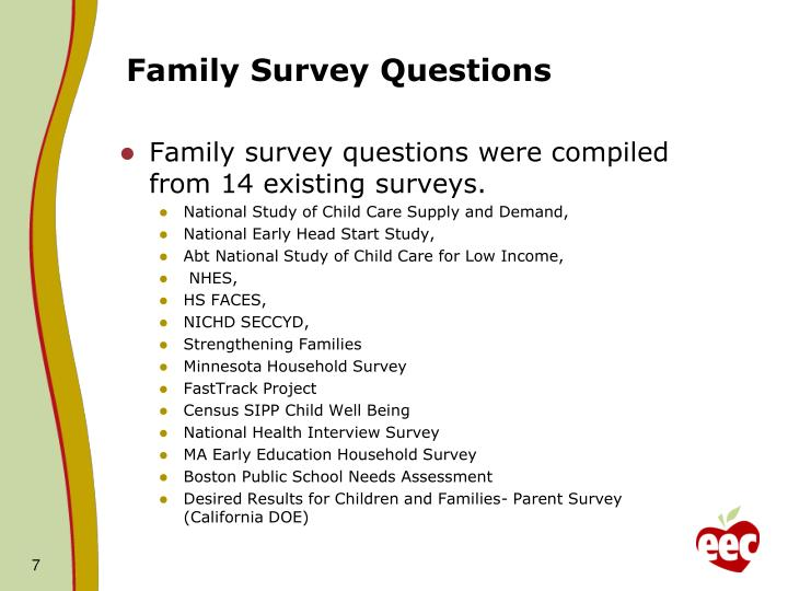 Family Survey Questions