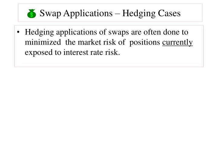 Swap Applications – Hedging Cases
