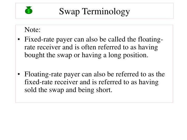 Swap Terminology