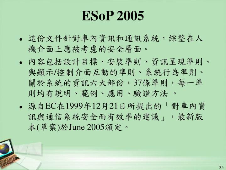 ESoP 2005