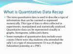 what is quantitative data recap