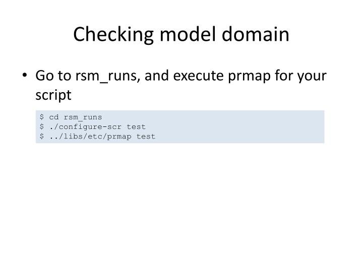 Checking model domain