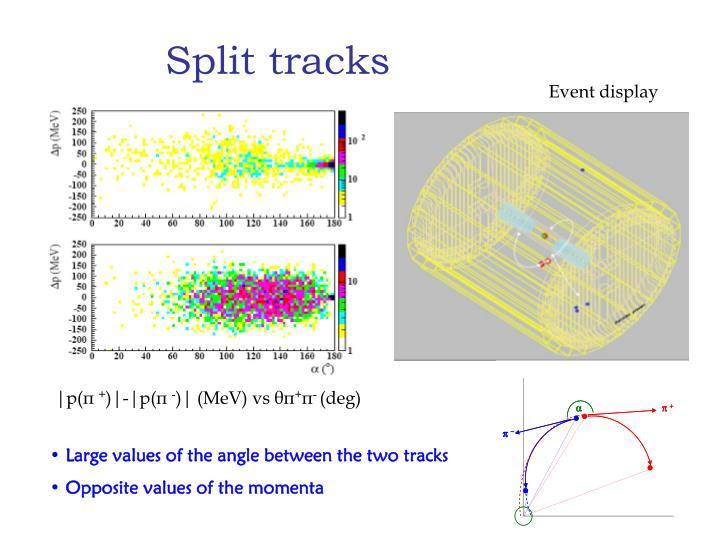 Split tracks