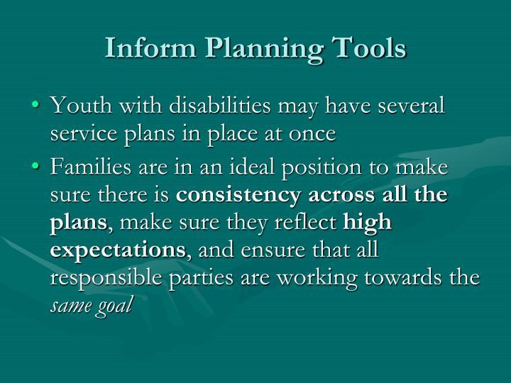 Inform Planning Tools