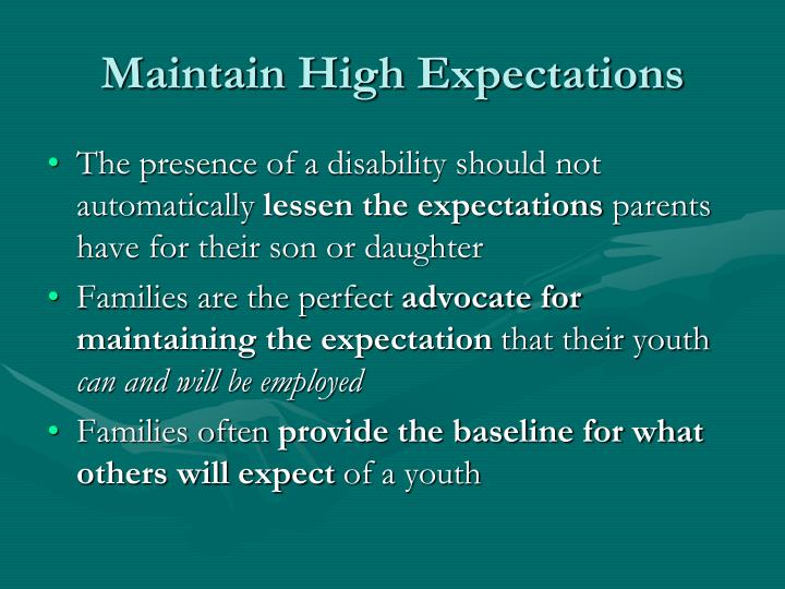 Maintain High Expectations