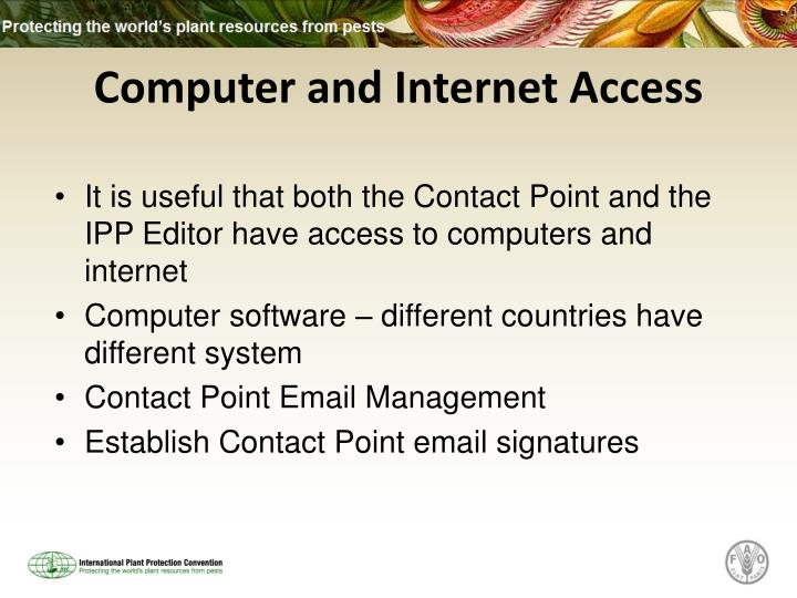 Computer and Internet Access