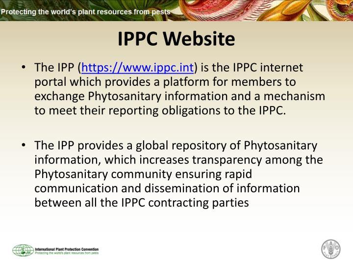 IPPC Website