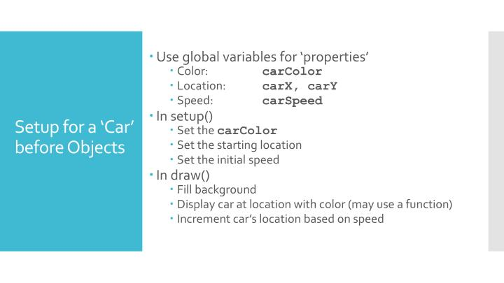 Use global variables for 'properties'