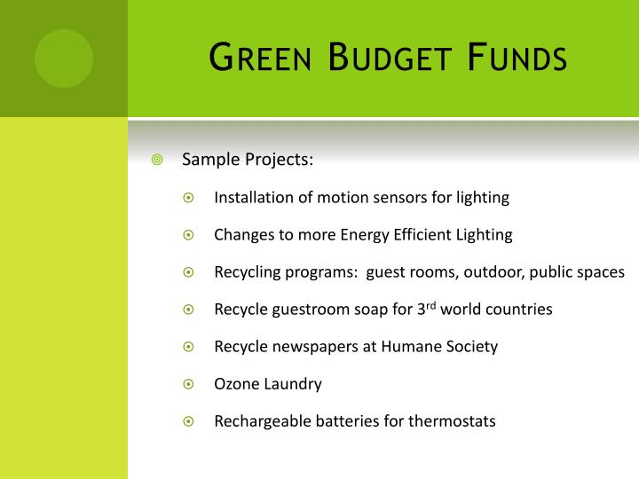 Green Budget Funds