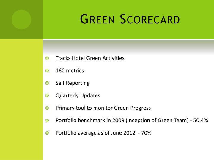 Green Scorecard