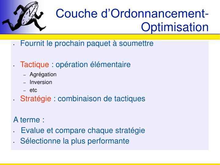 Couche d'Ordonnancement-Optimisation