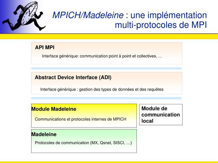 MPICH/Madeleine