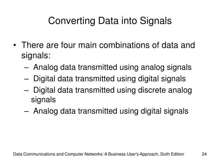 Converting Data into Signals