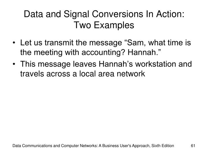 Data and Signal Conversions In Action: