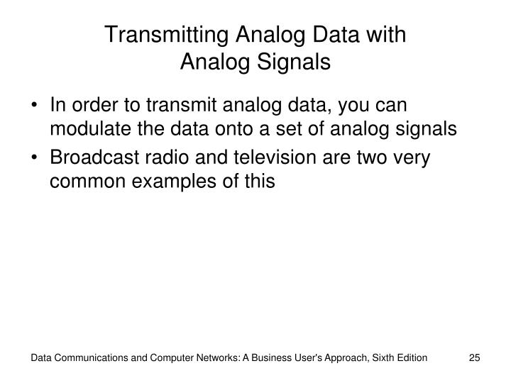 Transmitting Analog Data with