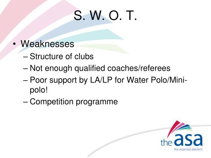 S. W. O. T.