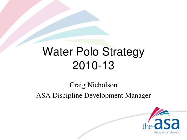 Water polo strategy 2010 13