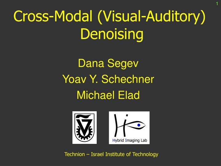 Cross modal visual auditory denoising