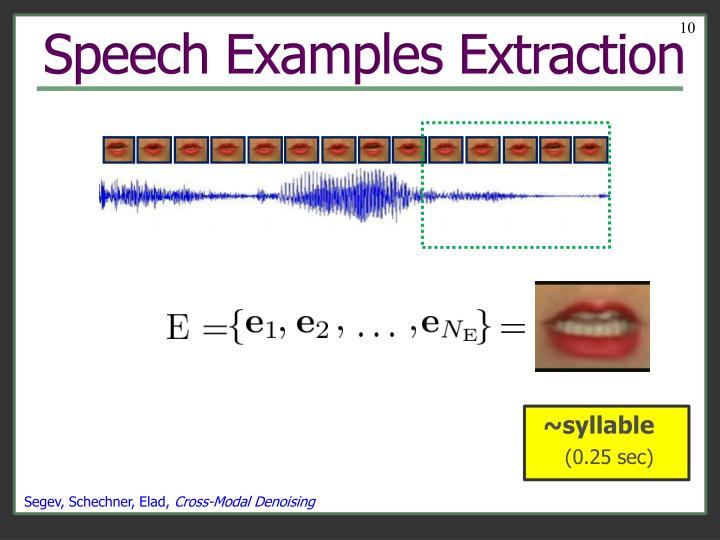 Speech Examples Extraction