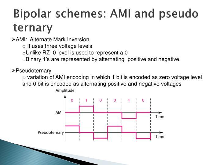 Bipolar schemes: AMI and pseudo ternary