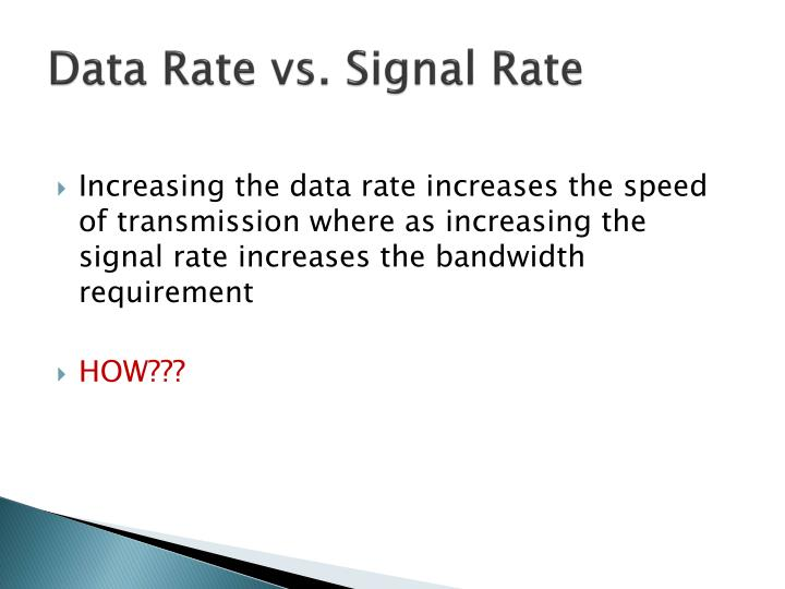 Data Rate vs. Signal Rate