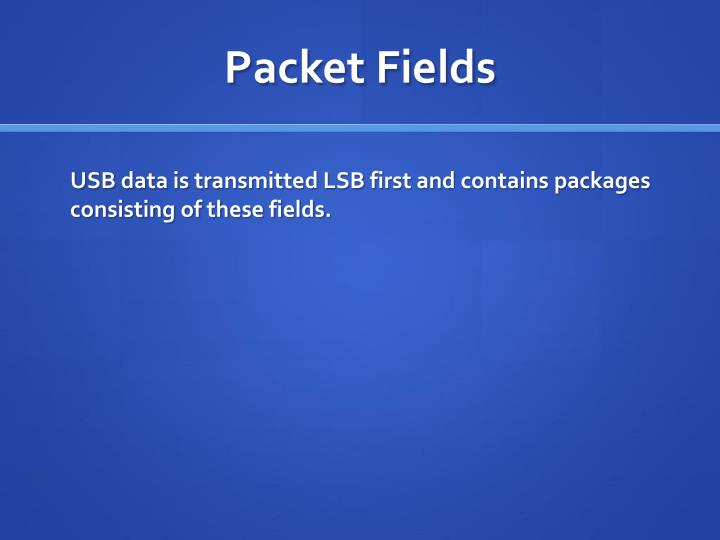 Packet Fields
