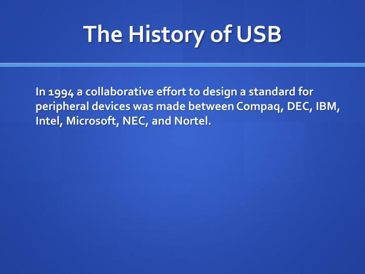 The history of usb