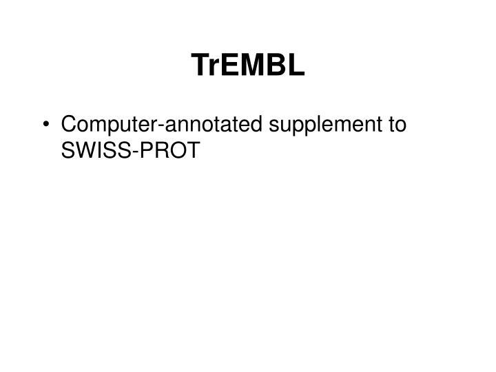 TrEMBL