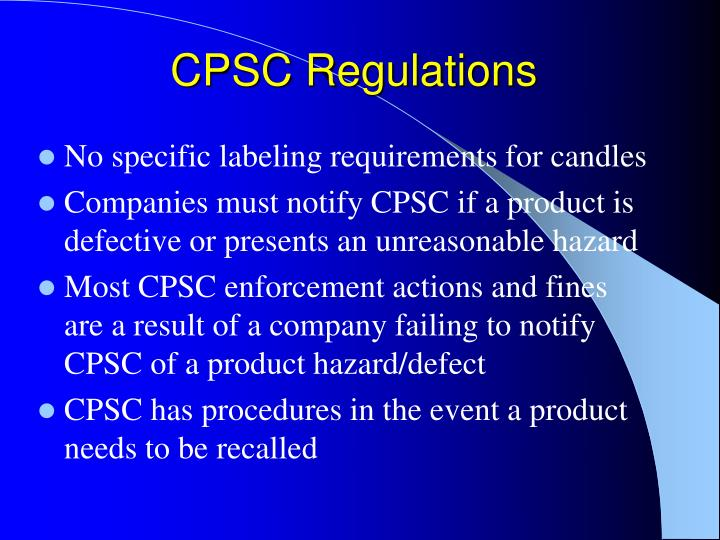 Cpsc regulations