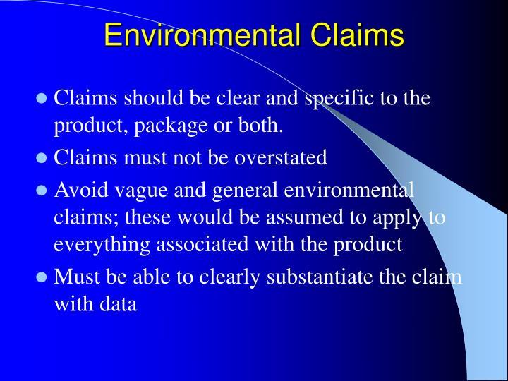 Environmental Claims