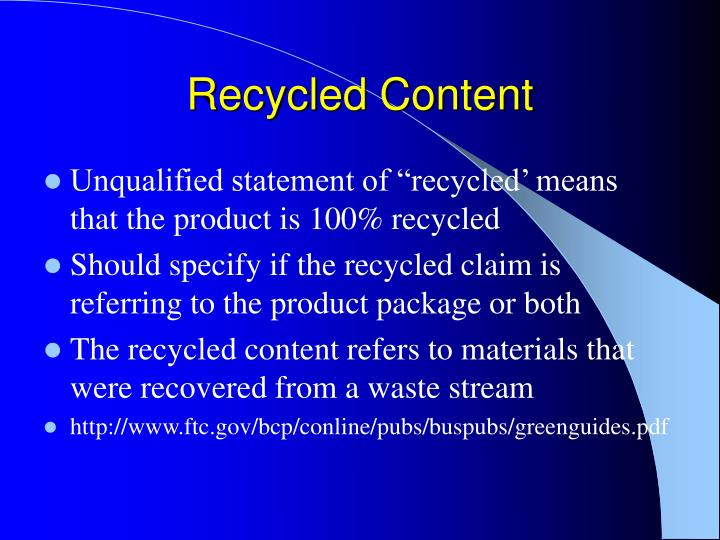 Recycled Content