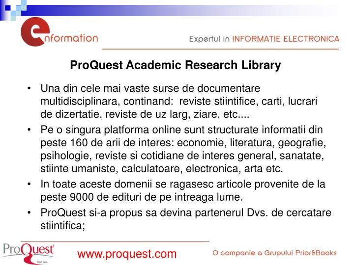 ProQuest Academic Research Library