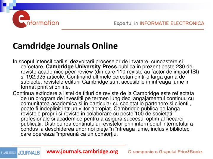 Camdridge Journals Online