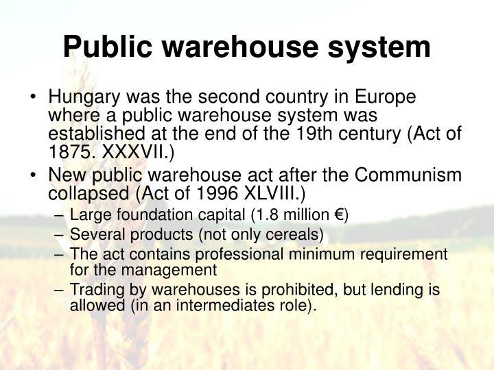 Public warehous
