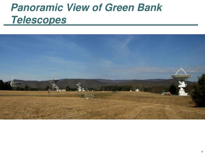 Panoramic View of Green Bank Telescopes